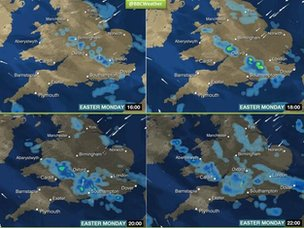 BBC Weather graphic