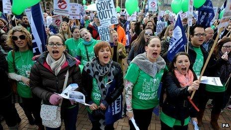 Teachers' strike, March 2014