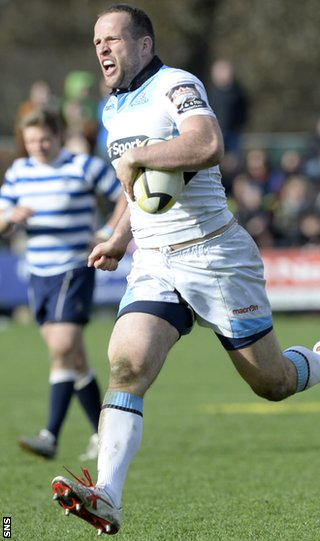 Glasgow Warriors forward James Eddie