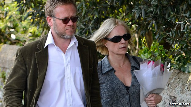 Broadcaster Mariella Frostrup and her husband Jason McCue