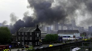 A huge fire on an industrial estate in Leeds has been brought under control by fire-fighters.