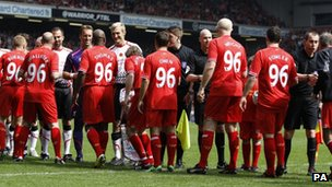 Local Liverpool Legends v International Liverpool Greats - Anfield