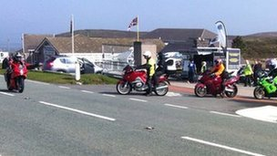 Ponderosa cafe and bikers, Denbighshire