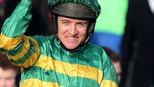 Barry Geraghty won the Irish Grand National on Shutthefrontdoor