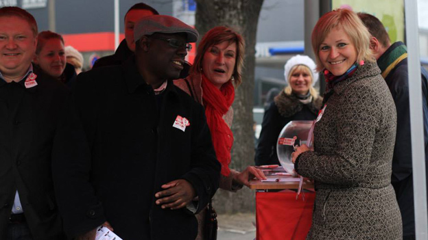 Abdul Turay campaigning in Estonia