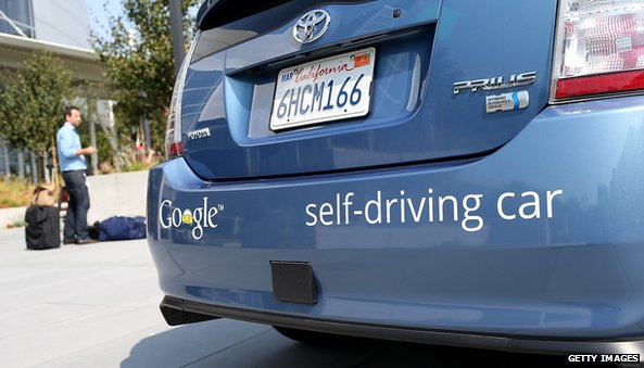 Google's self-driving car is controlled by a computer