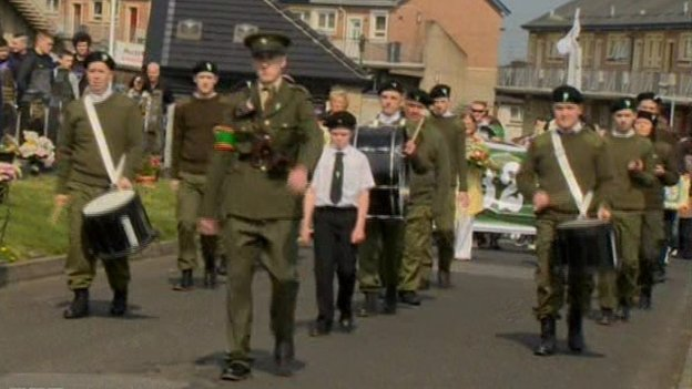 More than 100 people attended a republican commemoration in Derry