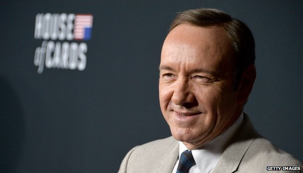 Kevin Spacey and House of Cards logo