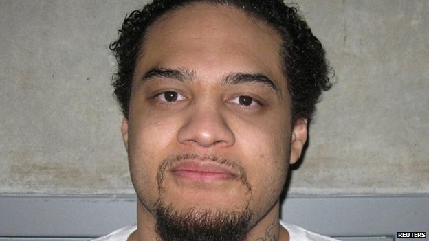 Siale Angilau, 25, an accused street gang member, is seen in a picture provided by the Utah Department of Corrections taken in February, 2012.