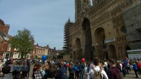 Tribute at Lincoln Cathedral
