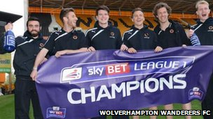 Wolves celebrate title