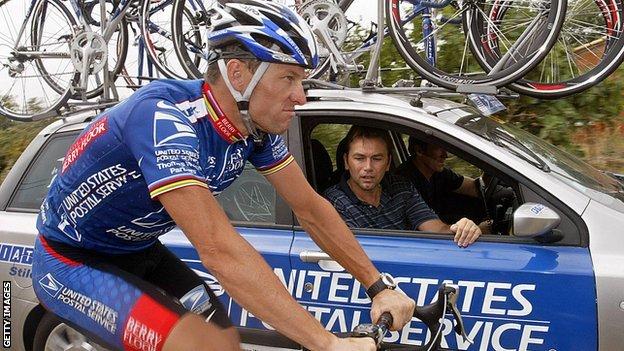 Lancer Armstrong and Johan Bruyneel