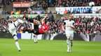 Robin van Persie scoring against Swansea City