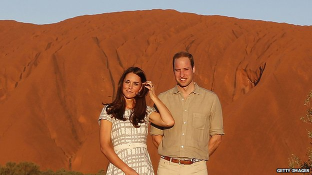 Duke and Duchess of Cambridge at Uluru