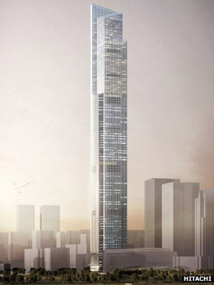 Guangzhou CTF Financial Centre artist's impression