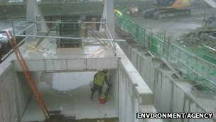 Environment Agency hydropower and fish pass construction work at Durham