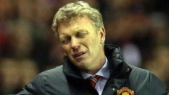 David Moyes at League Cup semi-final first leg against Sunderland, 7 January 2014