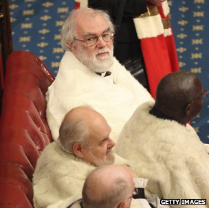 Rowan Williams and other bishops in House of Lords