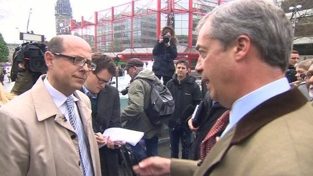 Nick Robinson with Nigel Farage