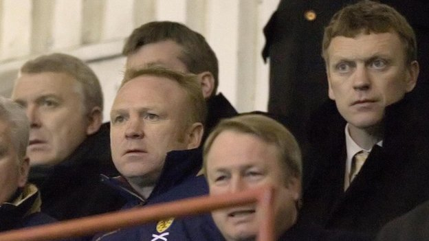 Alex McLeish and David Moyes