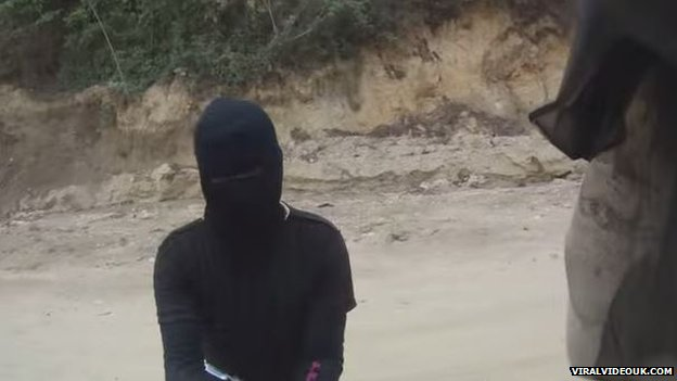 Masked robber in Guatemala