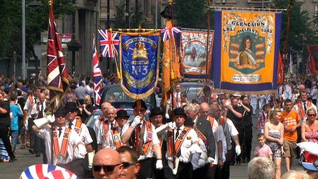 Belfast Twelfth parade