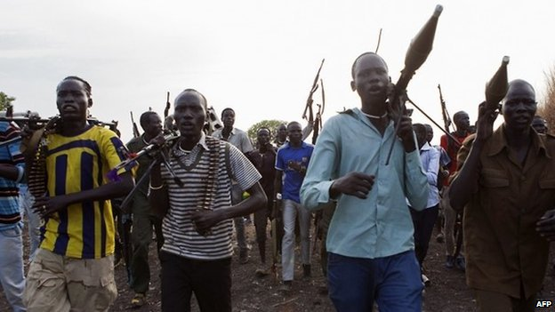 "Member of the ""white army"" which make up some of the rebel forces loyal to Riek Machar in South Sudan - Upper Nile State, 14 April 2014"