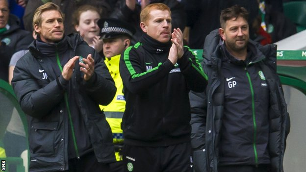 Johan Mjallby, Neil Lennon and Garry Parker