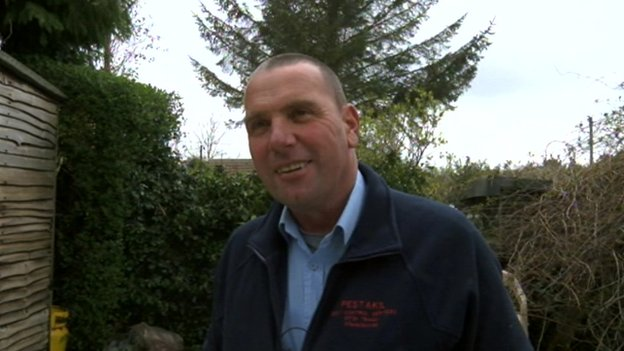 Steve Clemo, a pest controller from a company called Pestakil based in Hayle.