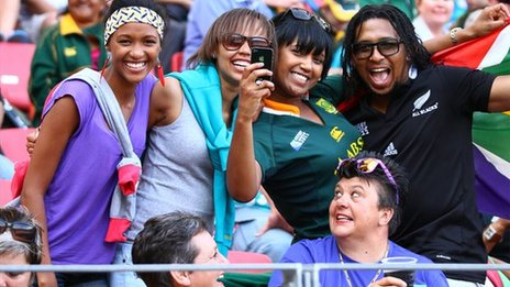 Rugby fans in South Africa