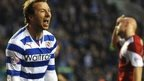 Adam Le Fondre celebrates scoring for Reading