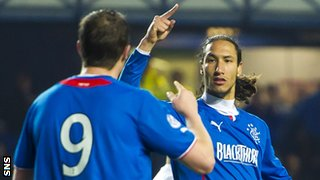 Rangers' Jon Daly and Bilel Mohsni celebrate