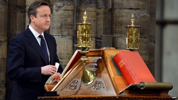 David Cameron in a church