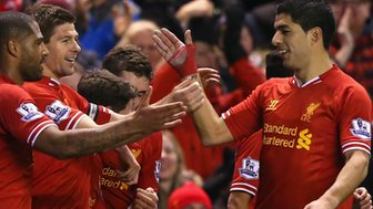 Liverpool duo Steven Gerrard and Luis Suarez