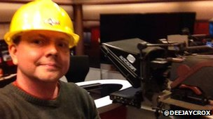 David Croxson in hard hat