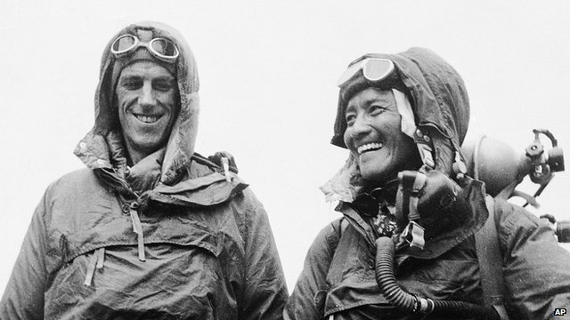 Sir Edmund Hillary and Sherpa Tamzing Norgay