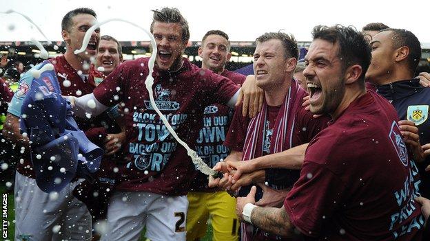 Burnley celebrate promotion
