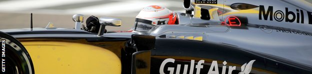 McLaren driver Kevin Magnussen of Denmark drives during the first practice session of the Formula One Bahrain Grand Prix at Bahrain's Sakhir circuit in Manama on April 4, 2014.