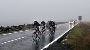 Giant-Shimano team cycling in Yorkshire