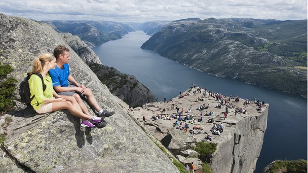 Preikestolen (Pulpit Rock) in Norway