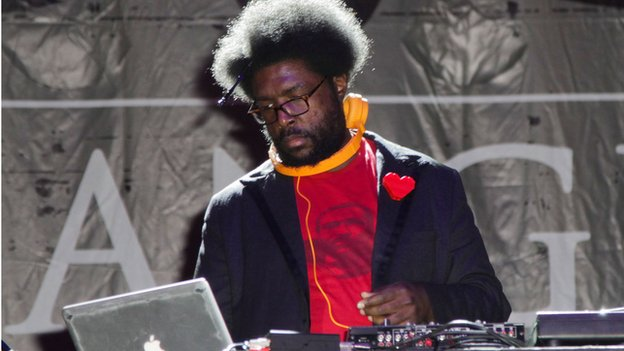 "Ahmir ""Questlove"" Thompson performs in Los Angeles on 22 August, 2013."