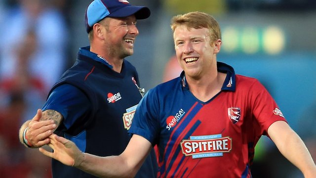 Kent spinner Adam Riley