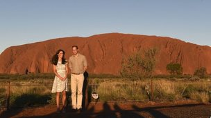 Next on their tour was the world famous Uluru, which was formerly known as Ayers Rock. The Duke and Duchess were there to catch sunset...