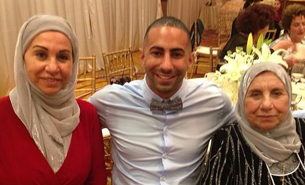 Yousef with his mother and grandmother