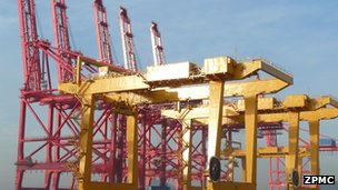 mega crane Liverpool port