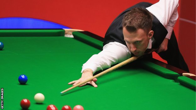 Judd Trump in action at the World Championship