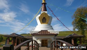 The stupa bridge at Samye Ling