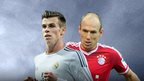 Gareth Bale and Arjen Robben