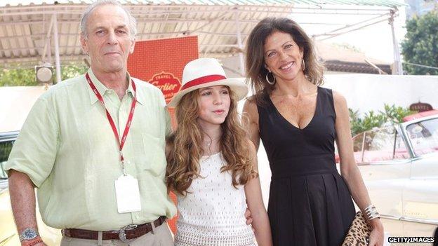 Mark Shand, Aysha Shand and Clio Shand