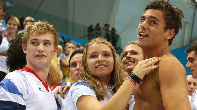 Tom Daley and Olympic team-mates